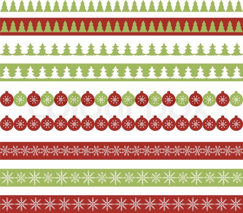 Weihnachts Grenzen | Vektorgrafik | Colourbox