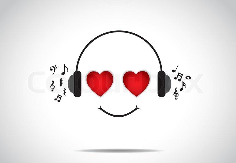 headphones listening to music clip art