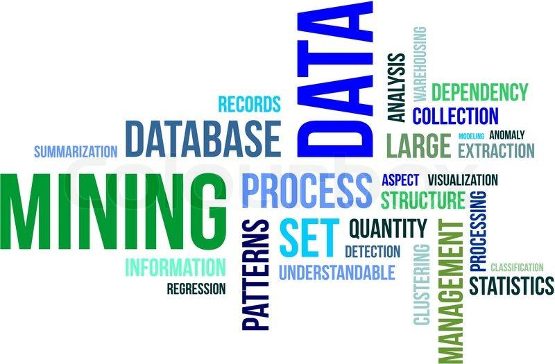 Word Cloud Data Mining Stock Vector Colourbox