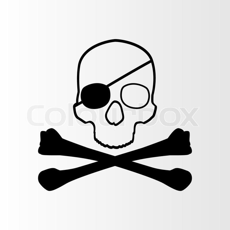 Piraten- Schädel und Knochen Zeichen Jolly roger | Vektorgrafik ...