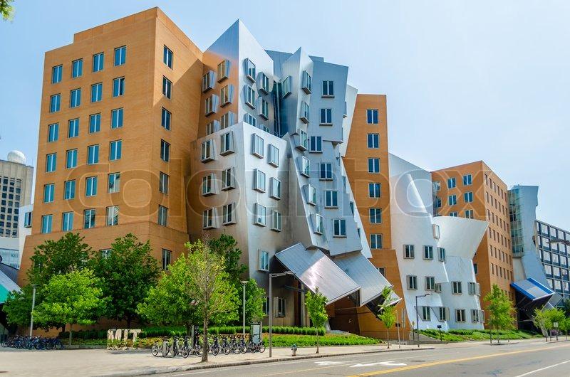 Iconic Postmodern Architecture Of MIT Strata Center Cambridge USA Stock Photo