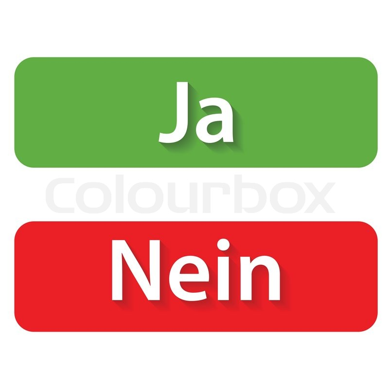 ja und nein buttons stock vektor colourbox. Black Bedroom Furniture Sets. Home Design Ideas