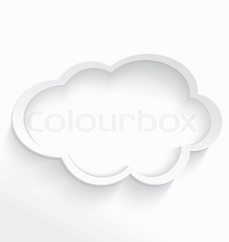 Cloud computing frame | Stock Vector | Colourbox