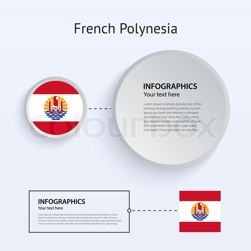 French Polynesia Country Part - 31: French Polynesia Country Set Of Banners, Vector