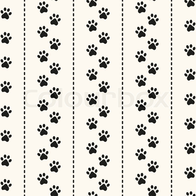 Seamless Animal Pattern Of Paw Footprint And Polka Dot Can Be Used For Wallpaper Fills Web Page Backgroundsurface Textures