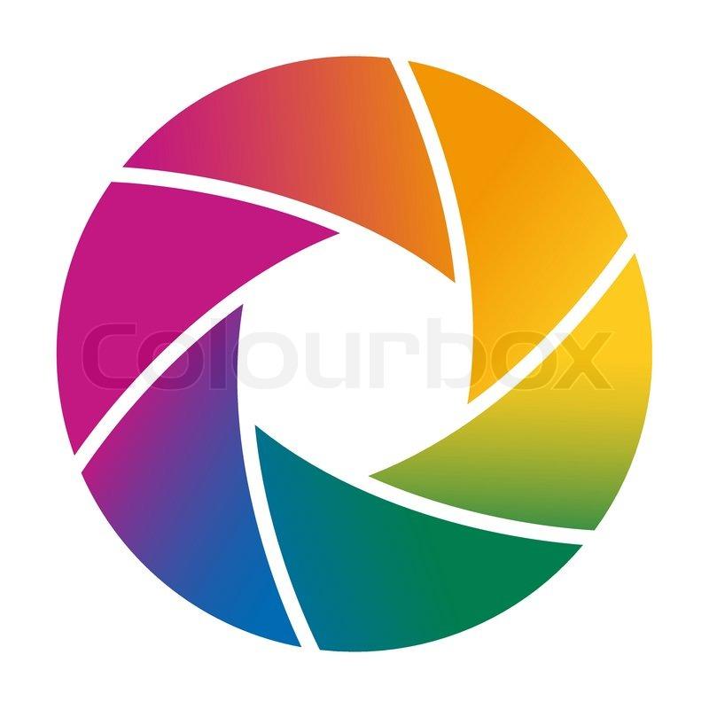 colorful camera shutter vector illustration stock vector colourbox