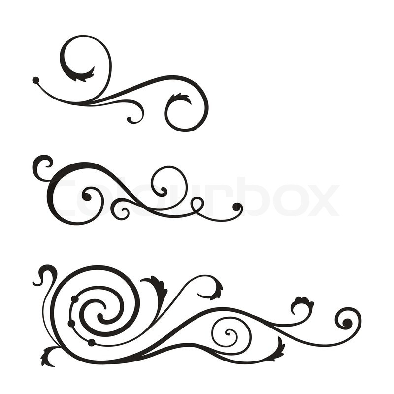 vector swirl elements for design stock vector colourbox rh colourbox com vector swirls background png vector swirls and flourishes