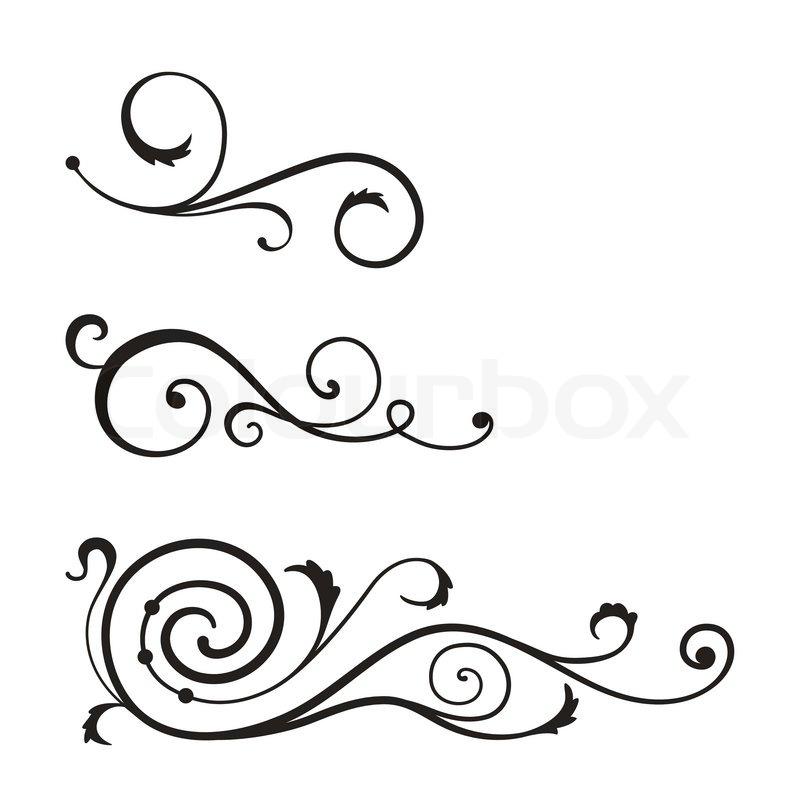 Vector swirl elements for design. | Stock Vector | Colourbox