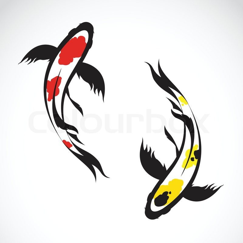 The gallery for koi fish silhouette for Koi fish vector