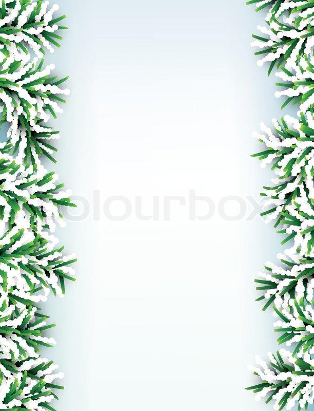 Tanne Weihnachten Rahmen | Vektorgrafik | Colourbox