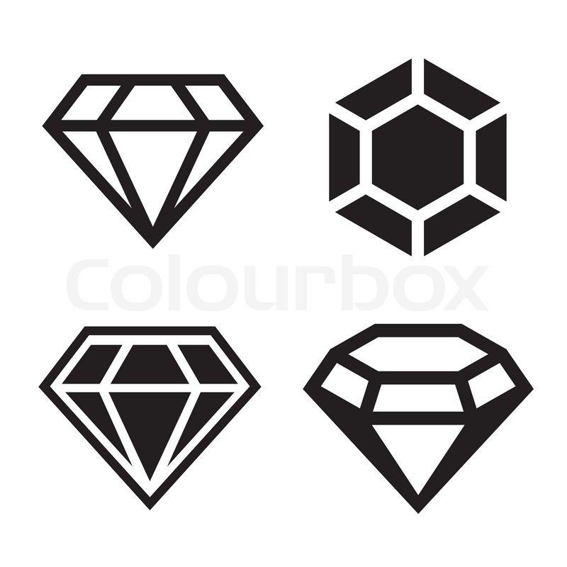 diamond vector icons set stock vector colourbox rh colourbox com diamond vector icon diamond vector icon