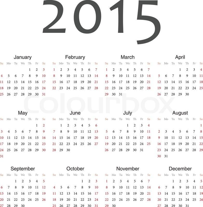 2015 Full Year Calendar   New Calendar Template Site