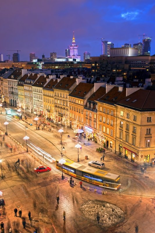 Warsaw City Life, stock photo