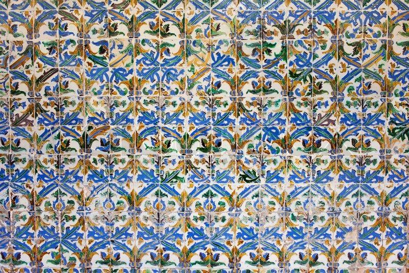 Alte Historische Azulejos Kacheln Im MudejarStil Real Alcazar - Andalusische fliesen