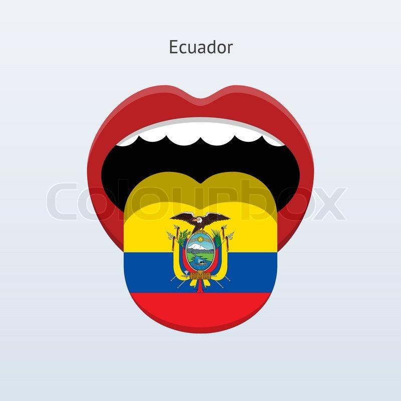 Ecuador language. Abstract human tongue. Vector ...