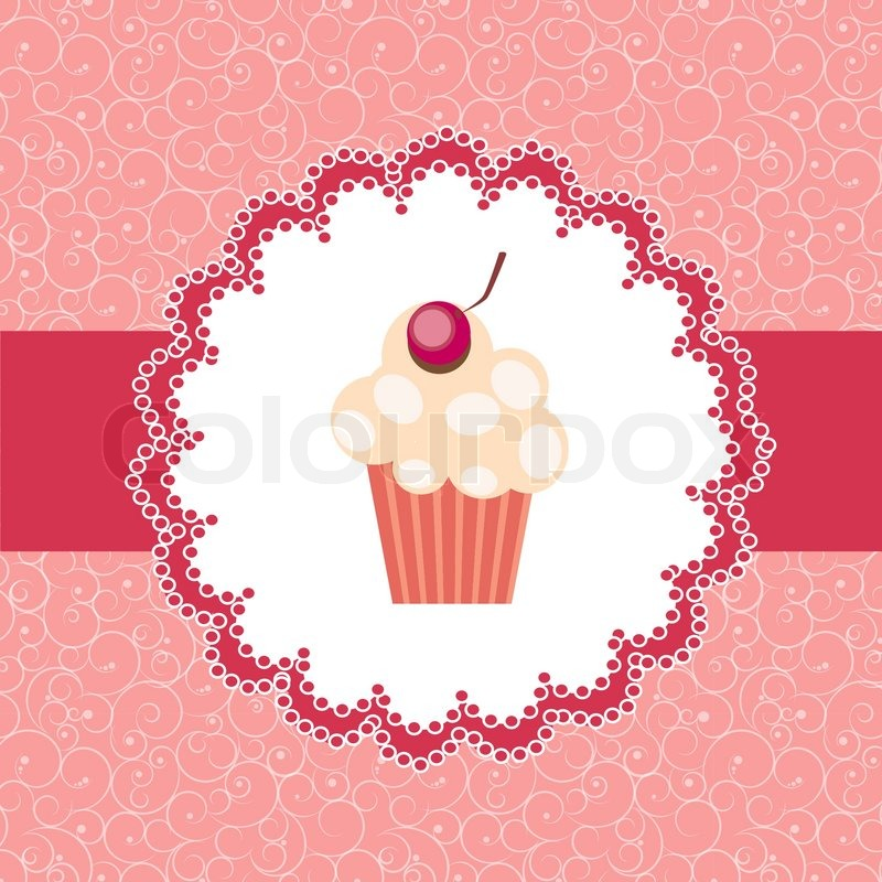 cupcake invitation background stock vector colourbox