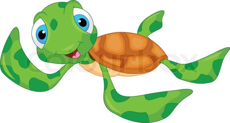 Cute sea turtle cartoon  Stock Vector  Colourbox