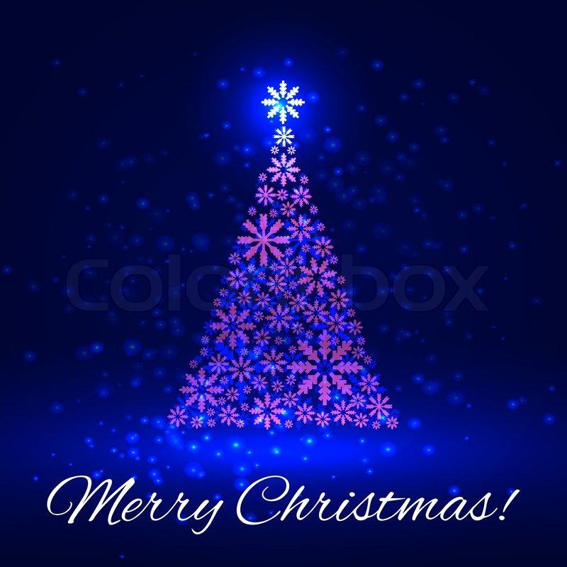 Shiny Christmas tree on dark background. Vector EPS10 Illustration ...