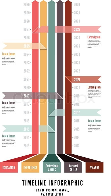 timeline web element template  vector illustration on