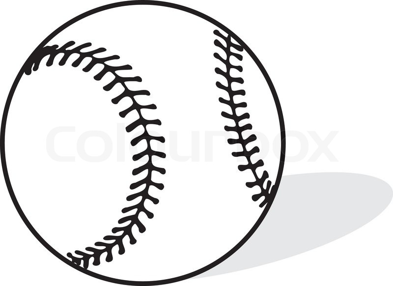 baseball sports vector illustration stock vector colourbox rh colourbox com baseball vector art free baseball vector art free