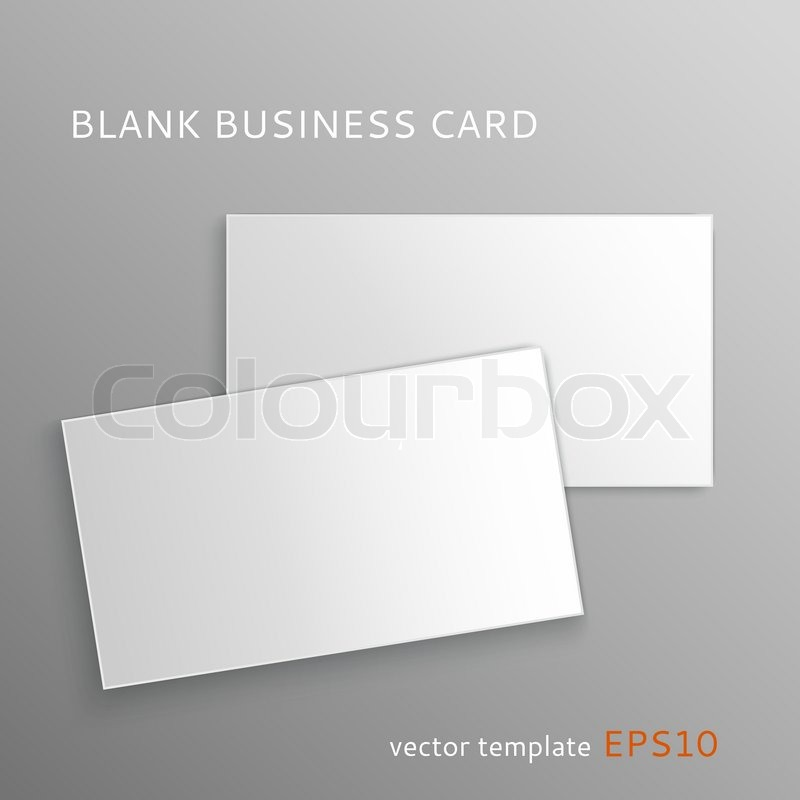 Vector blank business card isolated on gray background stock vector blank business card isolated on gray background stock vector colourbox reheart Gallery
