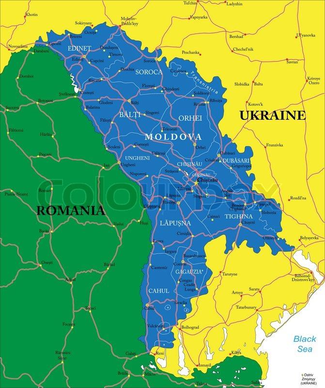 Moldawien Karte.Moldawien Karte Stock Vektor Colourbox