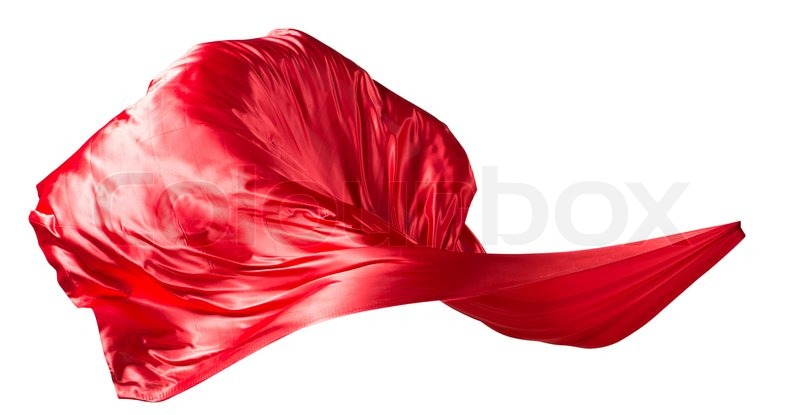 Fabric Weaves The Wind Isolated On White Background
