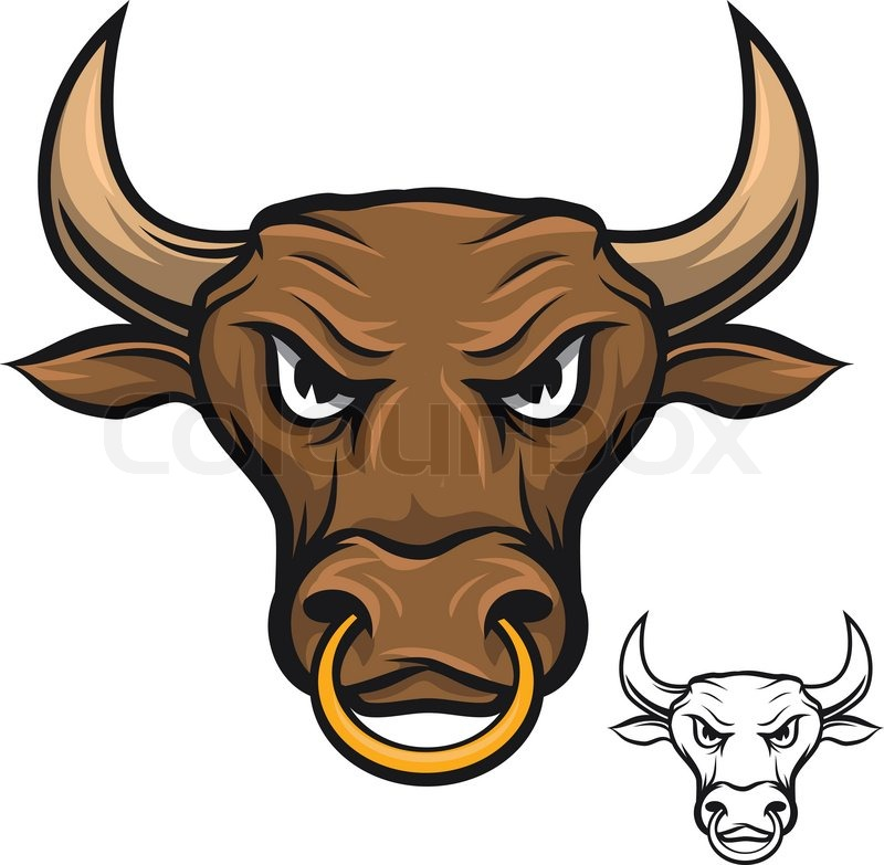 Angry Bull Stock Vector Colourbox