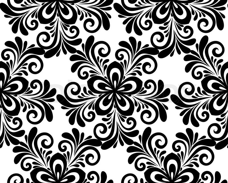 Black and white floral seamless pattern many similarities to the black and white floral seamless pattern many similarities to the authors profile stock vector colourbox mightylinksfo