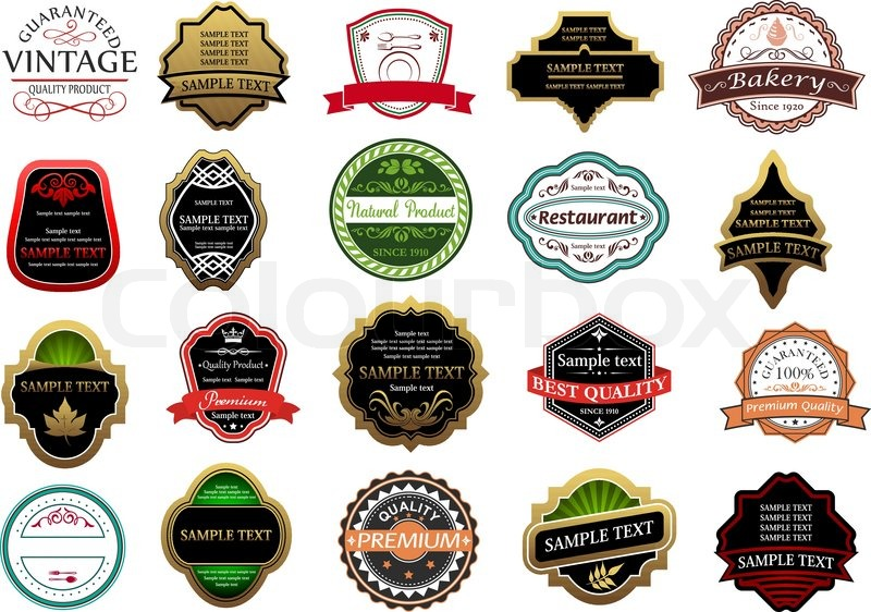 Banners labels and stickers set for retail industry design stock vector colourbox