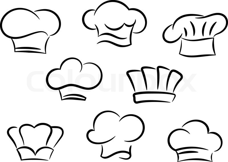 Chef and cook hats set isolated on ...  ad04300b776f