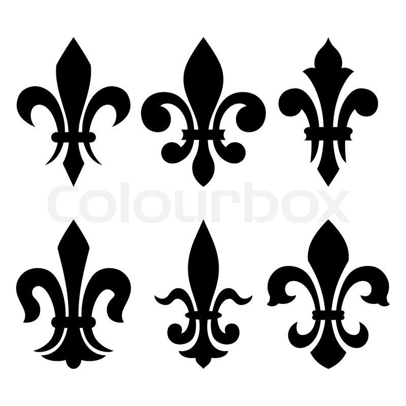 heraldische symbole fleur de lis vektorgrafik colourbox. Black Bedroom Furniture Sets. Home Design Ideas