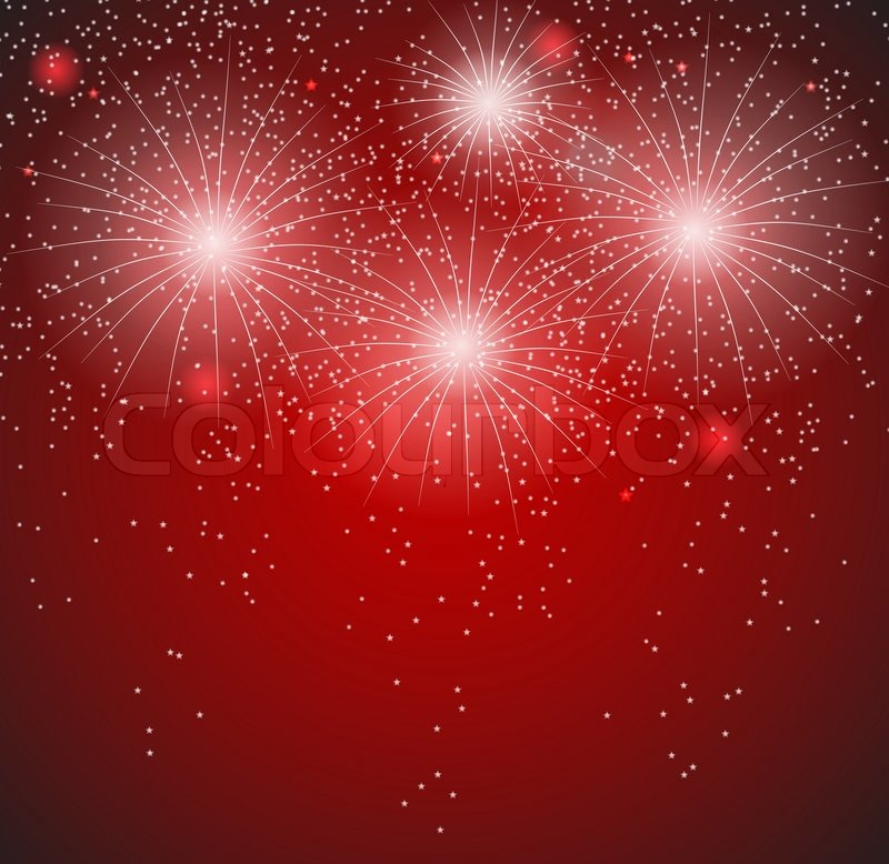 glossy fireworks background vector illustration stock vector