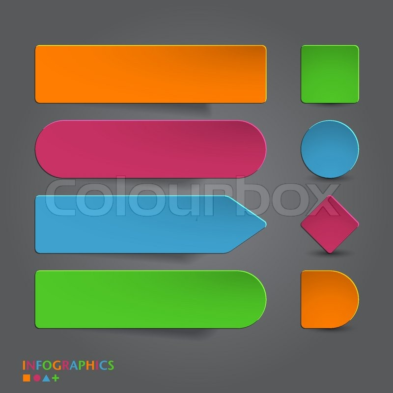 abstract infographics banner label tag designs template vector