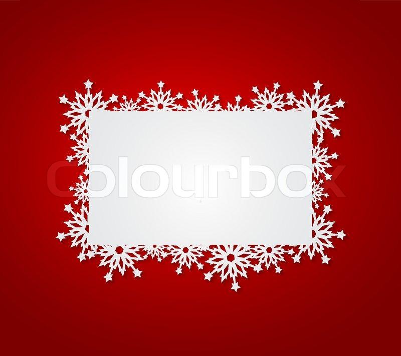 rot weihnachten hintergrund mit papier schneeflocken