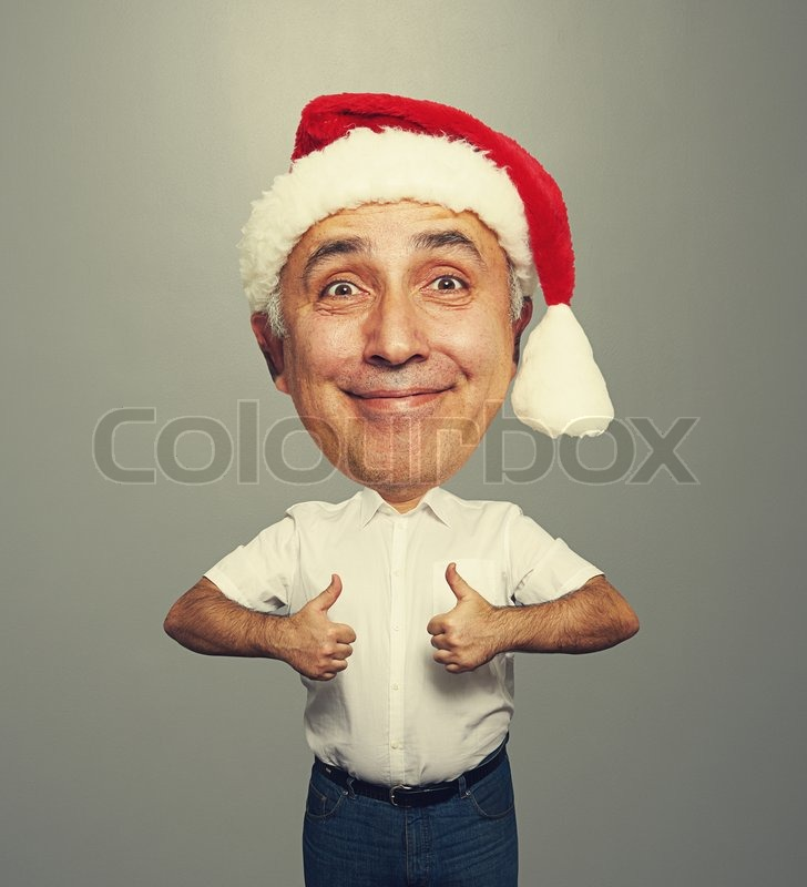 Lustige Smiley Alter Mann In Rote Stockfoto Colourbox