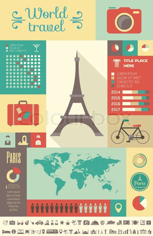 Travel Infographic Template   Stock Vector   Colourbox
