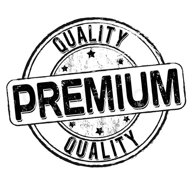premium quality grunge rubber stamp on white vector illustration