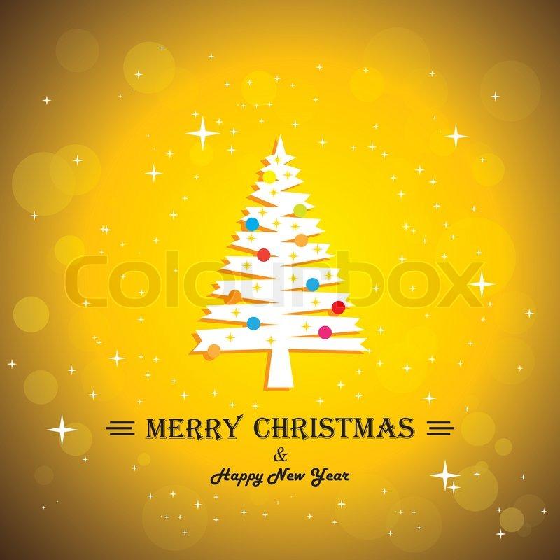 Merry christmas greeting card on christmas fantasy pine in x mas