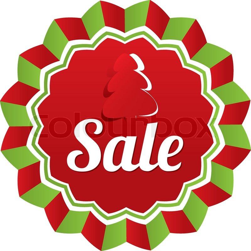 Weihnachtsverkauf, Sonderangebot-Etikett. Papier-Baum ...