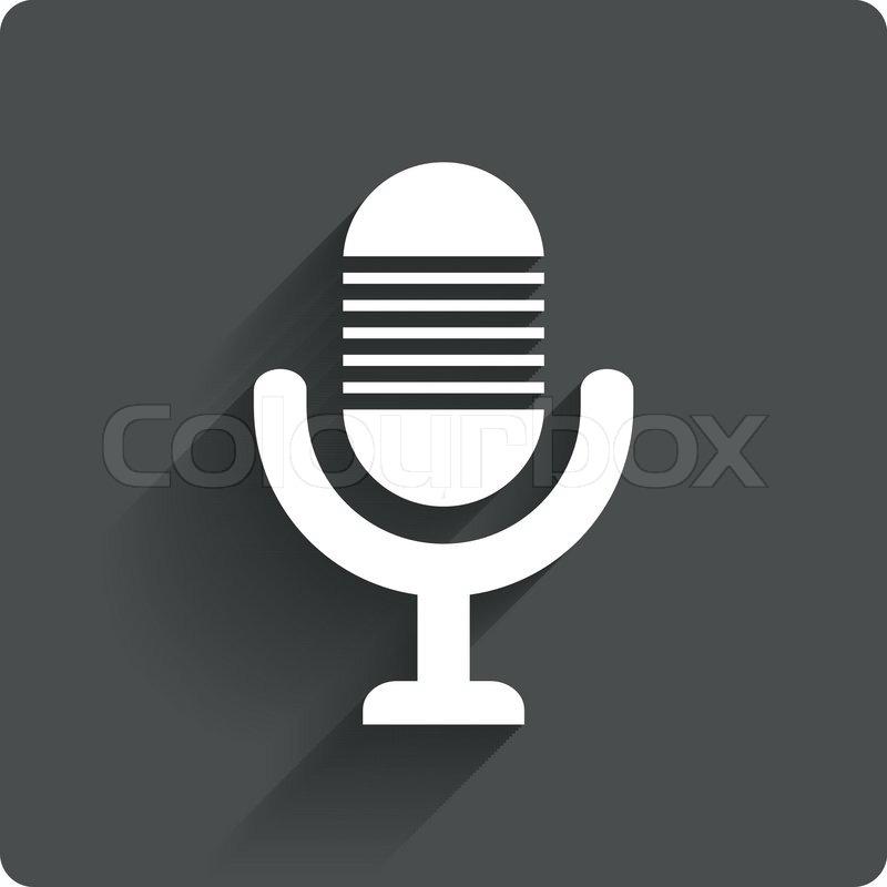 Mikrofonsymbol. Lautsprechersymbol. Live-Musik Zeichen ...
