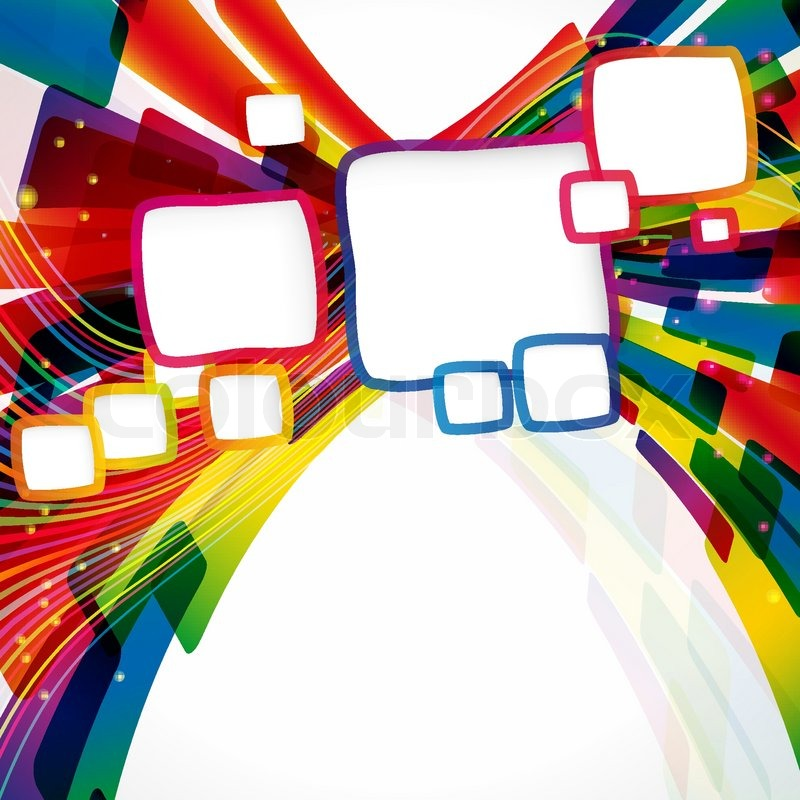 Multicolor abstract bright background with frames. Elements for ...
