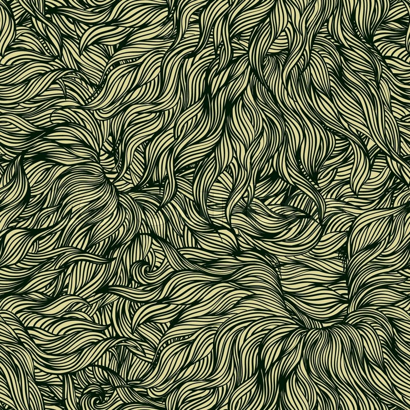 Luxury Vector Seamless Pattern In Dark Gold With Delicate