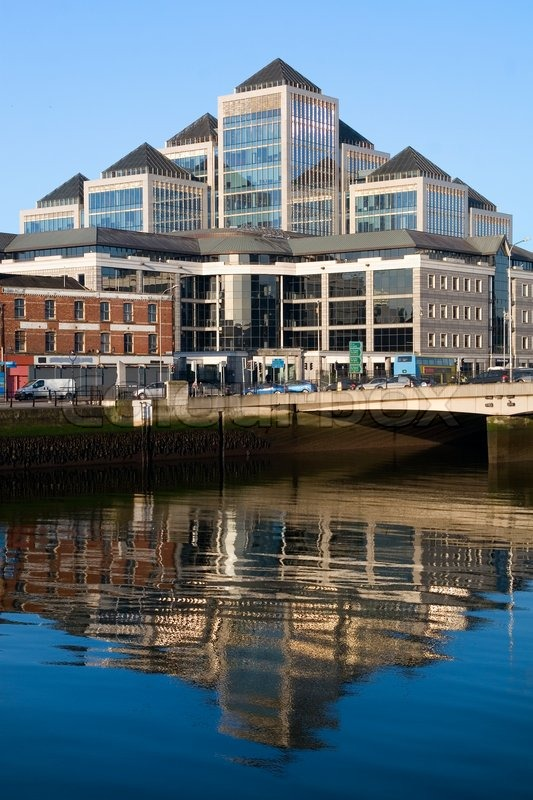 Dublin modern architecture by the river       Stock image