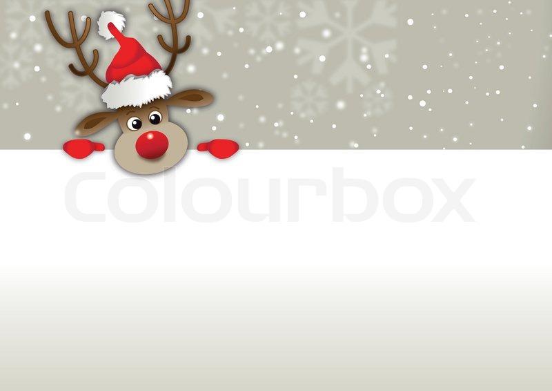 weihnachtskarte rentier vektorgrafik colourbox. Black Bedroom Furniture Sets. Home Design Ideas