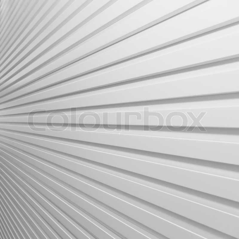 Background white plastic striped wall, stock photo