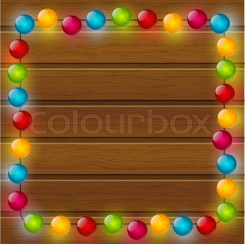 christmas background with color light bulbs stock vector colourbox