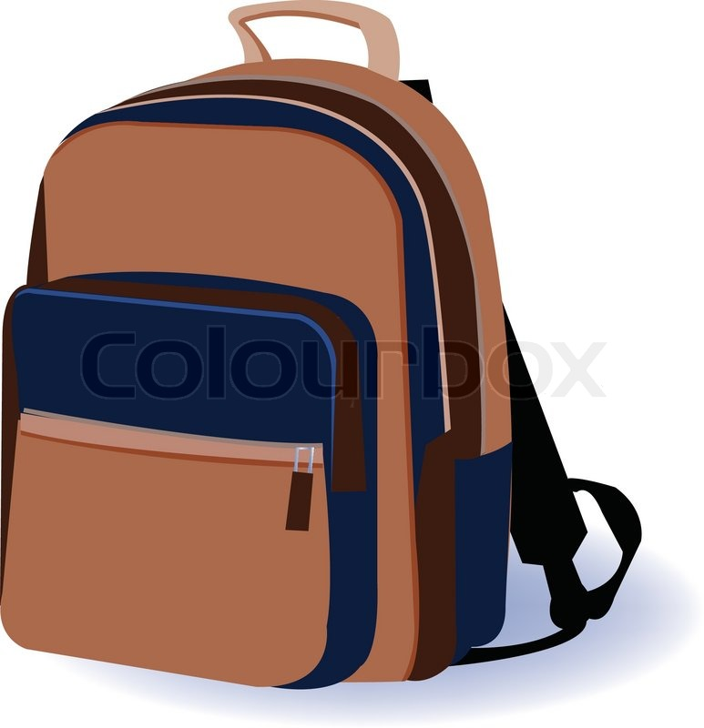 Book Bag Backpack School On White Background Vector