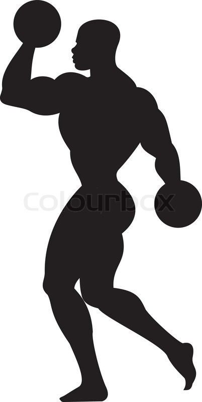 weightlifting silhouette stock vector colourbox