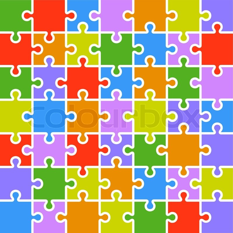 Jigsaw Puzzle Template Jigsaw Puzzle Color Parts
